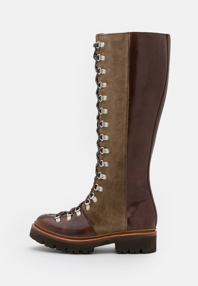 NANETTE  - Veterlaarzen - dark brown colorado/dark brown