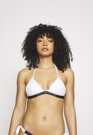 CORE SOLID LOGO TRIANGLE FIXED - Bikini top - white