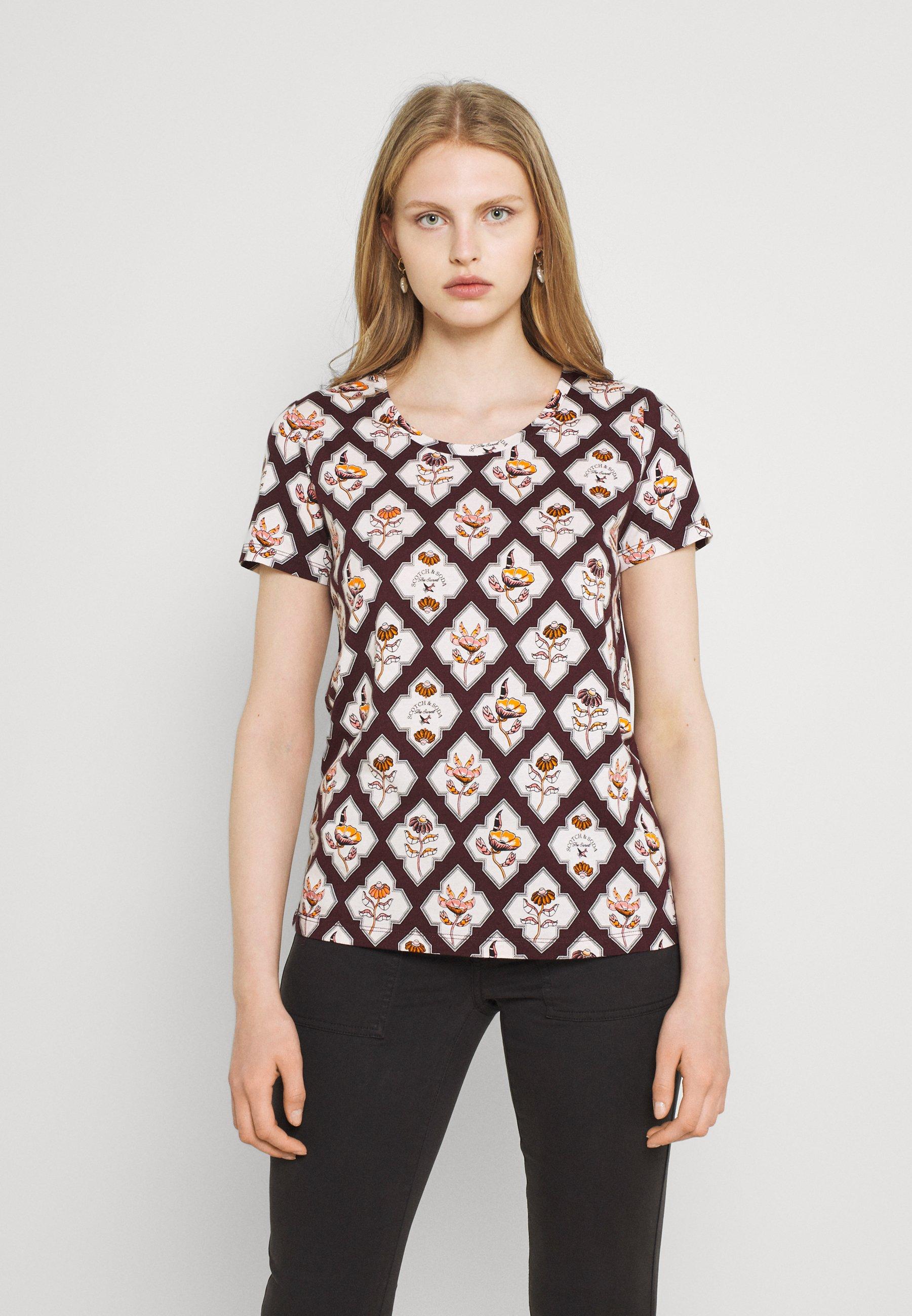 Women ALLOVER PRINTED TEE - Print T-shirt