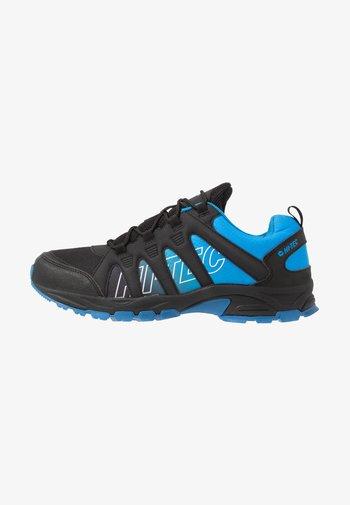 WARRIOR - Hiking shoes - black/blue