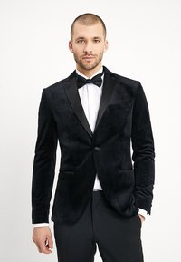Isaac Dewhirst - FASHION PLAIN JACKET SLIM FIT - Marynarka - black - 0