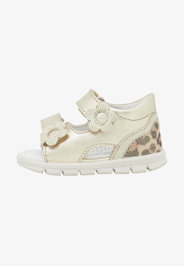 Walking sandals - gold