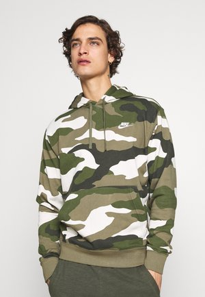 CLUB  CAMO - Hættetrøjer - medium olive/white