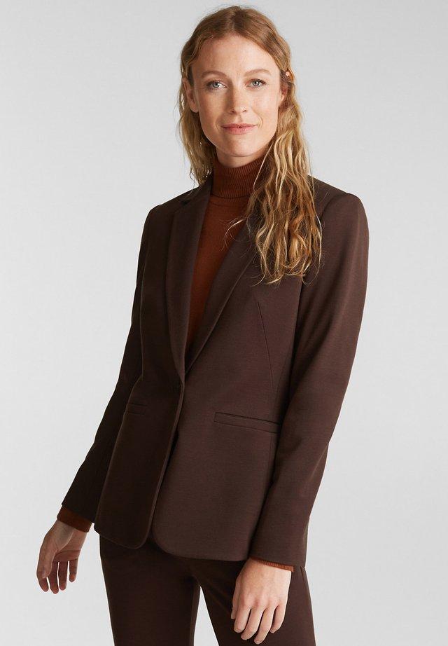 MIT STRETCHKOMFORT - Blazer - dark brown