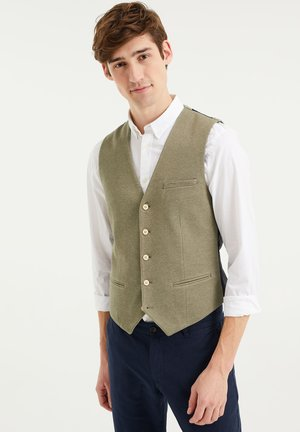 Suit waistcoat - olive green