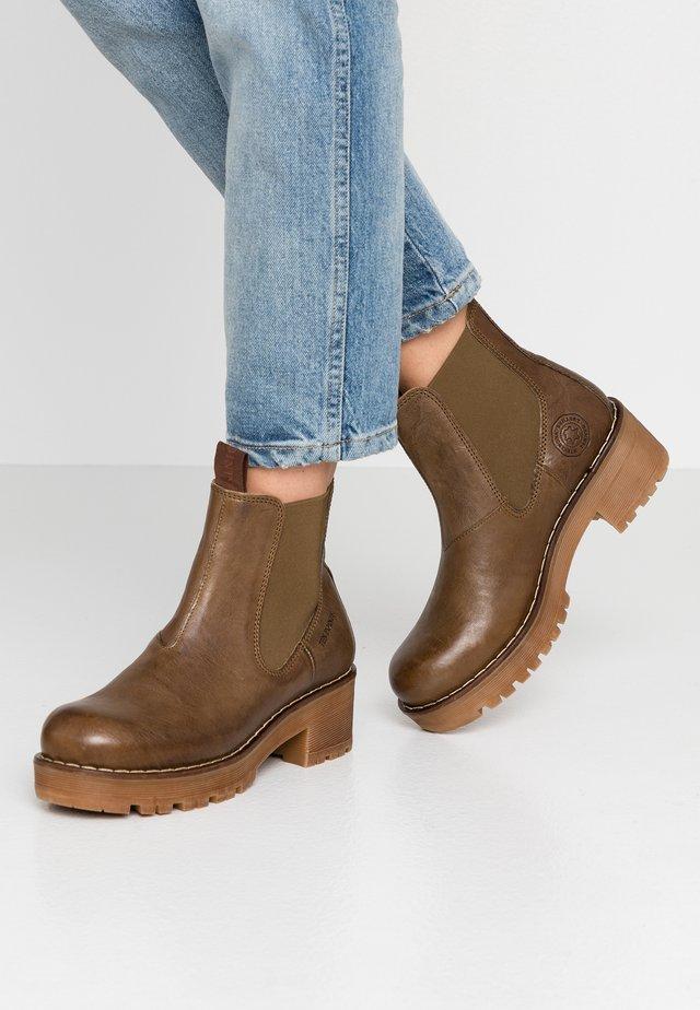 CLARISSE - Platform ankle boots - khaki