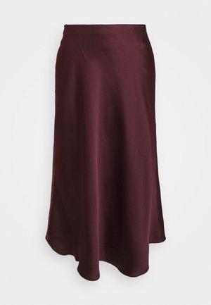 SHARAE STRAIGHT SKIRT - A-line skirt - pinot noir