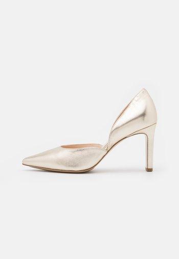 SHIRLEY - Classic heels - platin metallic