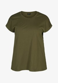 Zizzi - Basic T-shirt - green - 3