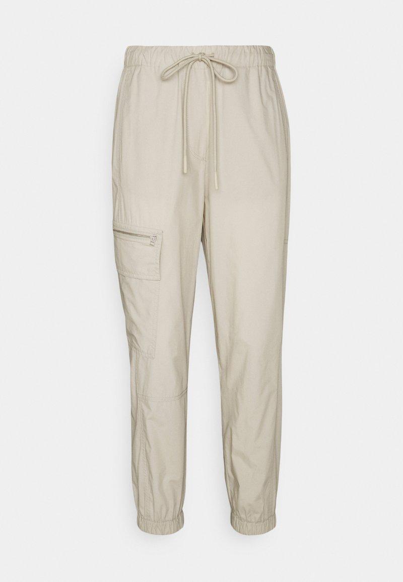 Marc O'Polo PURE - CARGO TRACK PANTS - Cargo trousers - khaki