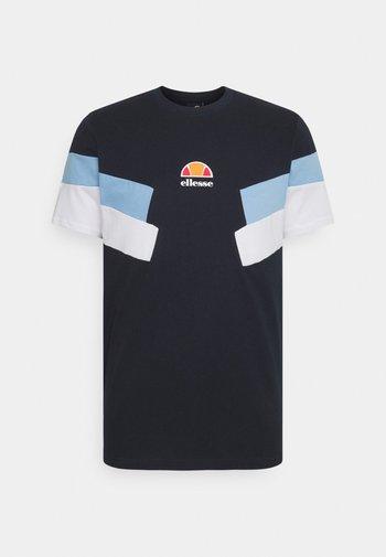 VALLONE TEE - Print T-shirt - navy