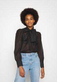Vero Moda - VMBRIANA - Button-down blouse - black - 0