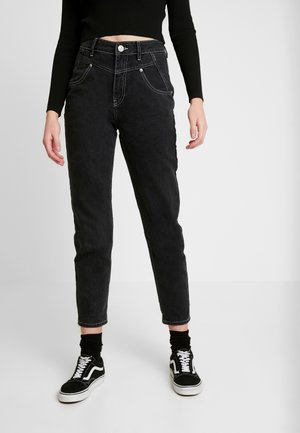 SEAMED MOM - Jeansy Relaxed Fit - black