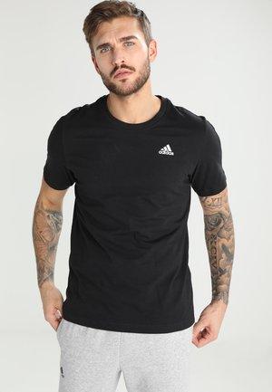 BASE TEE - Basic T-shirt - black/white