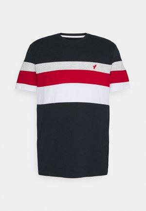 T-shirt imprimé - blue/red/grey