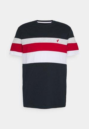 Print T-shirt - blue/red/grey