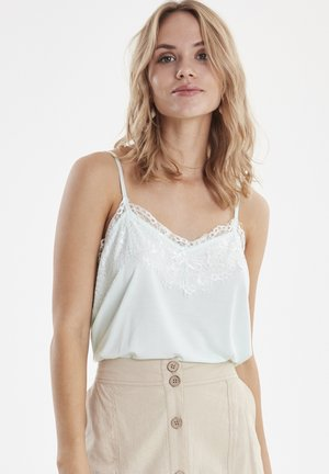 BYRICA LACE TOP - JERSEY - Top - bleached aqua