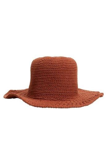 MAILLE COTON - Hat - orange brûlé