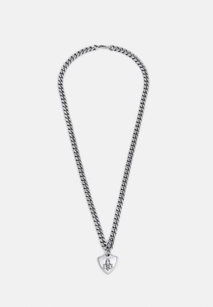 CURB SHIELD UNISEX - Necklace - antique silver
