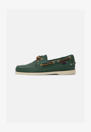 DOCKSIDES PORTLAND TUMBLED - Boat shoes - green forest/brown