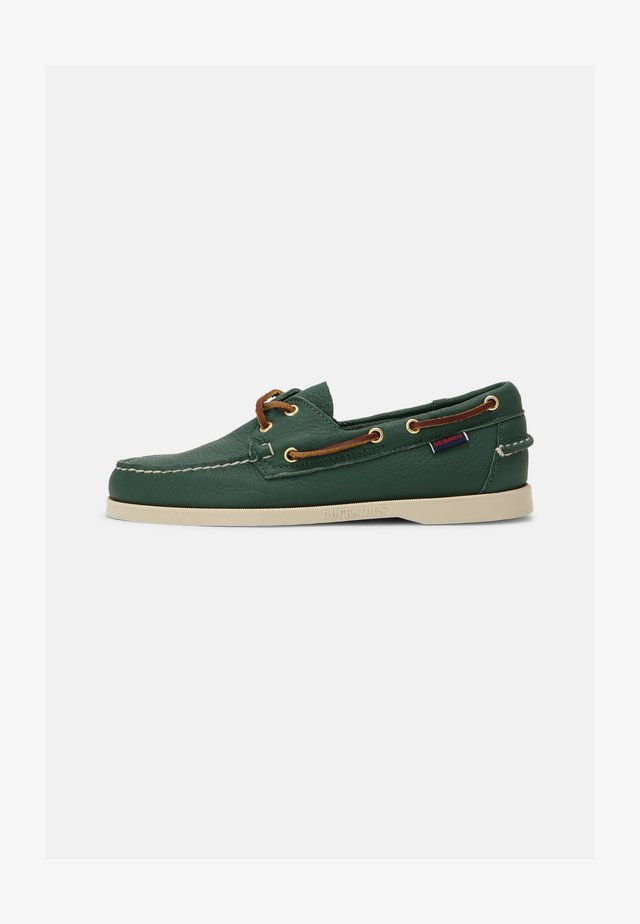 DOCKSIDES PORTLAND TUMBLED - Scarpe da barca - green forest/brown