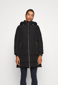 Calvin Klein - LOGO PUFFER COAT - Winter coat - black - 0