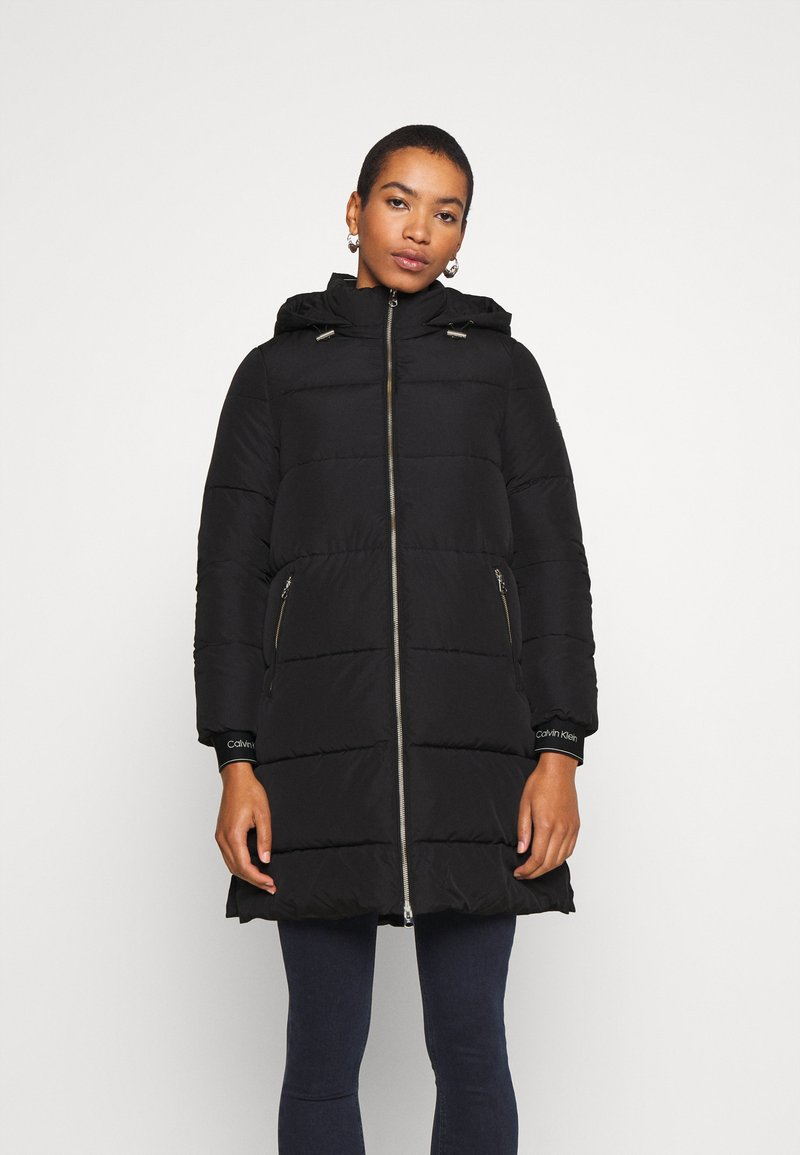 Calvin Klein - LOGO PUFFER COAT - Winter coat - black