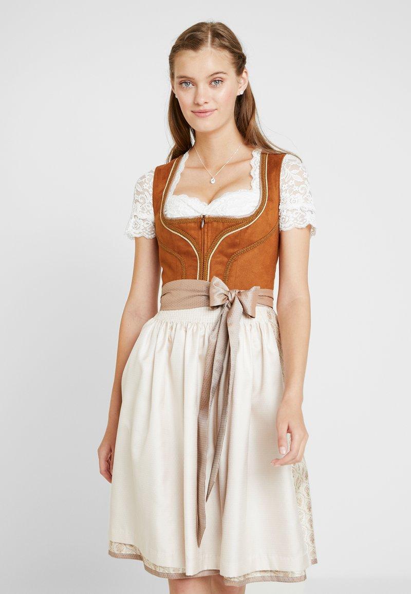 Krüger Dirndl - Oktoberfestklær - beige braun
