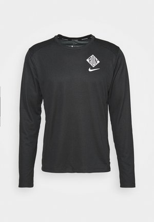 PACER CREW  - Sports shirt - black/particle grey/silver