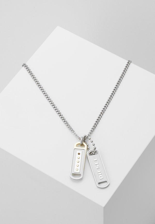 DOUBLE PENDANT - Collar - silver-coloured