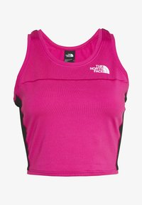 The North Face - WOMENS ACTIVE TRAIL TANKLETTE - Sports shirt - pink/black - 4