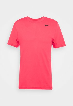 DRY TEE CREW SOLID - Basic T-shirt - light fusion red/black