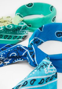 Vintage Supply - BANDANA UNISEX 2 PACK - Šátek - blue/green - 1