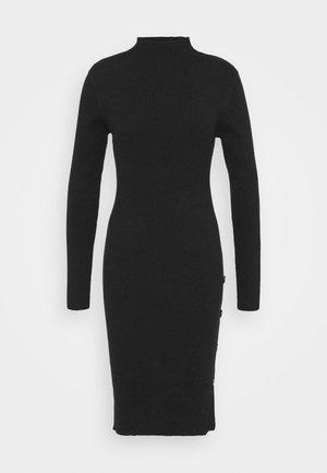 VISOLTO BUTTON DRESS - Pouzdrové šaty - black