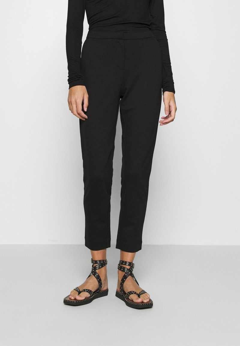 ONLY - ONLLENIA MARA CIGARETTE - Trousers - black