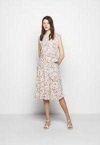 Lauren Ralph Lauren - VILODIE CAP SLEEVE CASUAL DRESS - Vardagsklänning - pink multi - 0