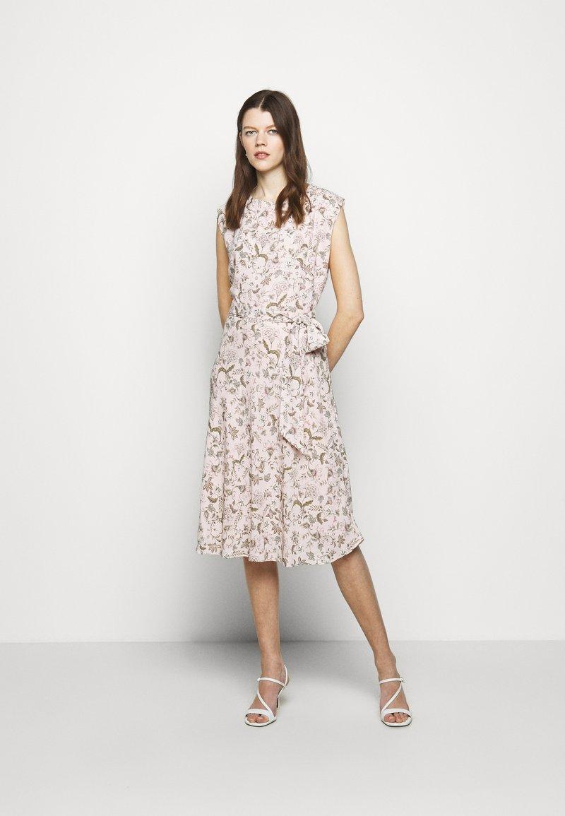 Lauren Ralph Lauren - VILODIE CAP SLEEVE CASUAL DRESS - Vardagsklänning - pink multi