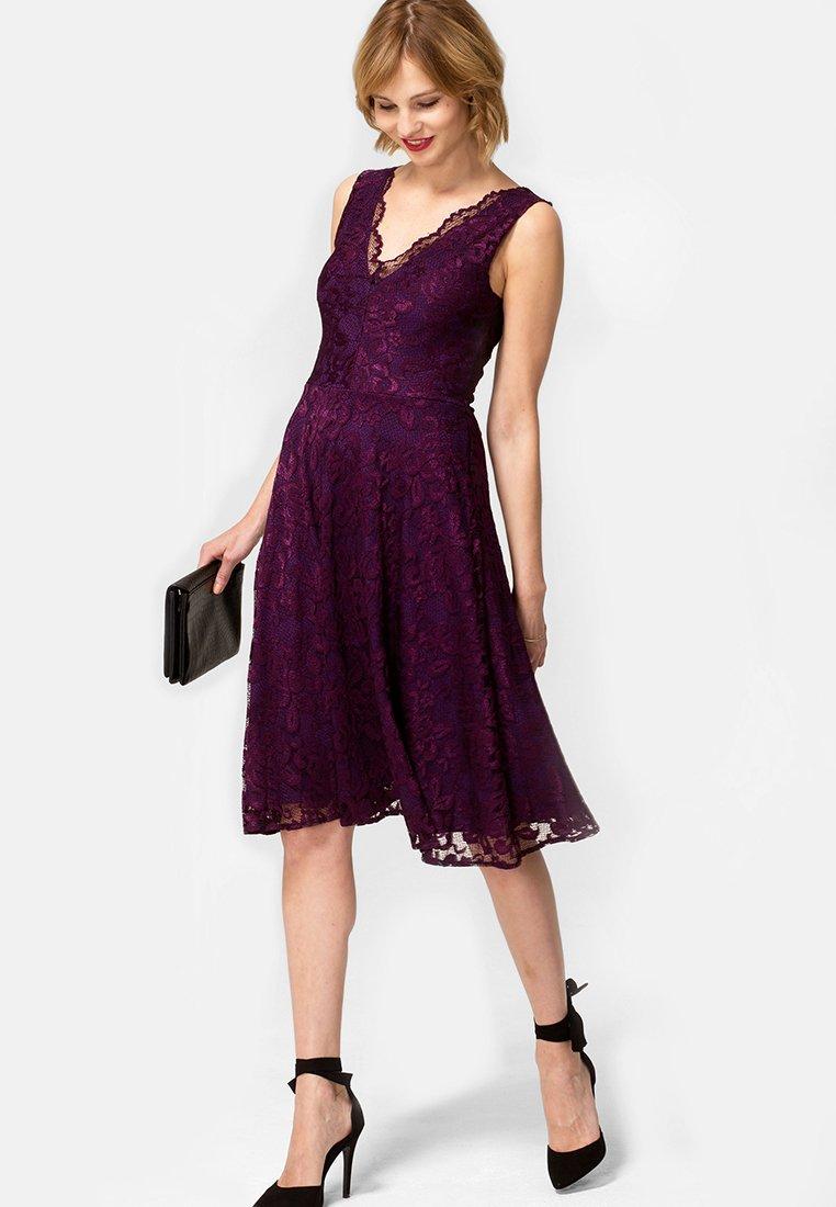 HotSquash - FLORAL  - Cocktail dress / Party dress - dark purple
