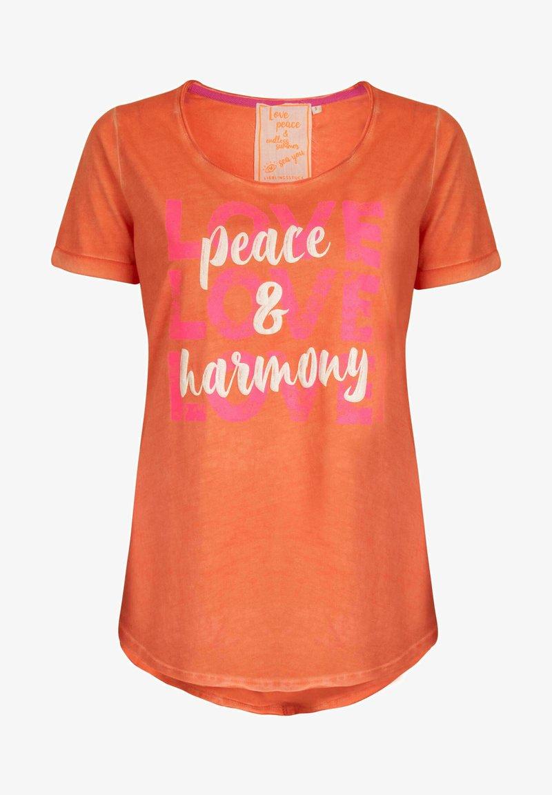 Lieblingsstück - CARISSIMAL - Print T-shirt - orange