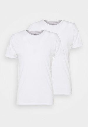 ALDER TEE 2 PACK - Jednoduché triko - white