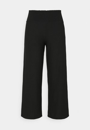 PCCURLI CROPPED PANTS CURVE - Trousers - black