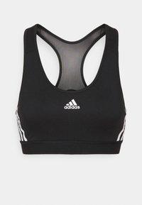 adidas Performance - BRA - Medium support sports bra - black/white - 3