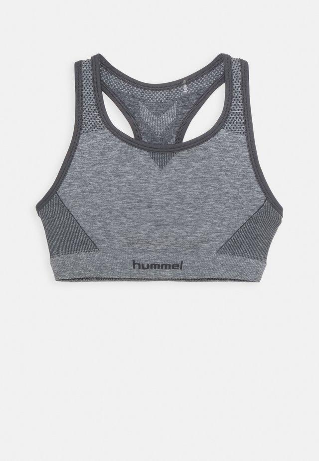 HMLAVA SEAMLESS SPORTS - Sports bra - medium melange