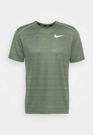 DRY MILER - Camiseta estampada - juniper fog/juniper fog/reflective silver