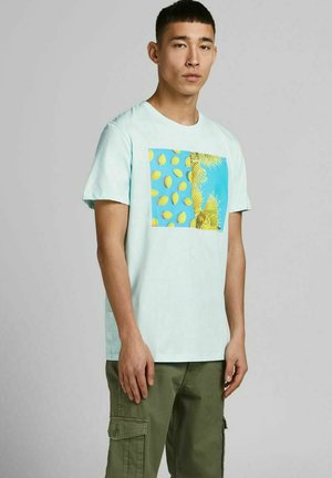 JJSUMMER TEE CREW NECK - Print T-shirt - bleached aqua
