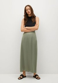 Mango - MATILDE-A - Pleated skirt - olivengrün - 1
