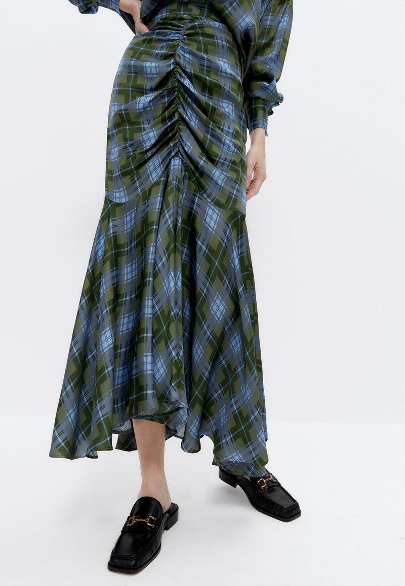 Uterqüe - A-line skirt - green