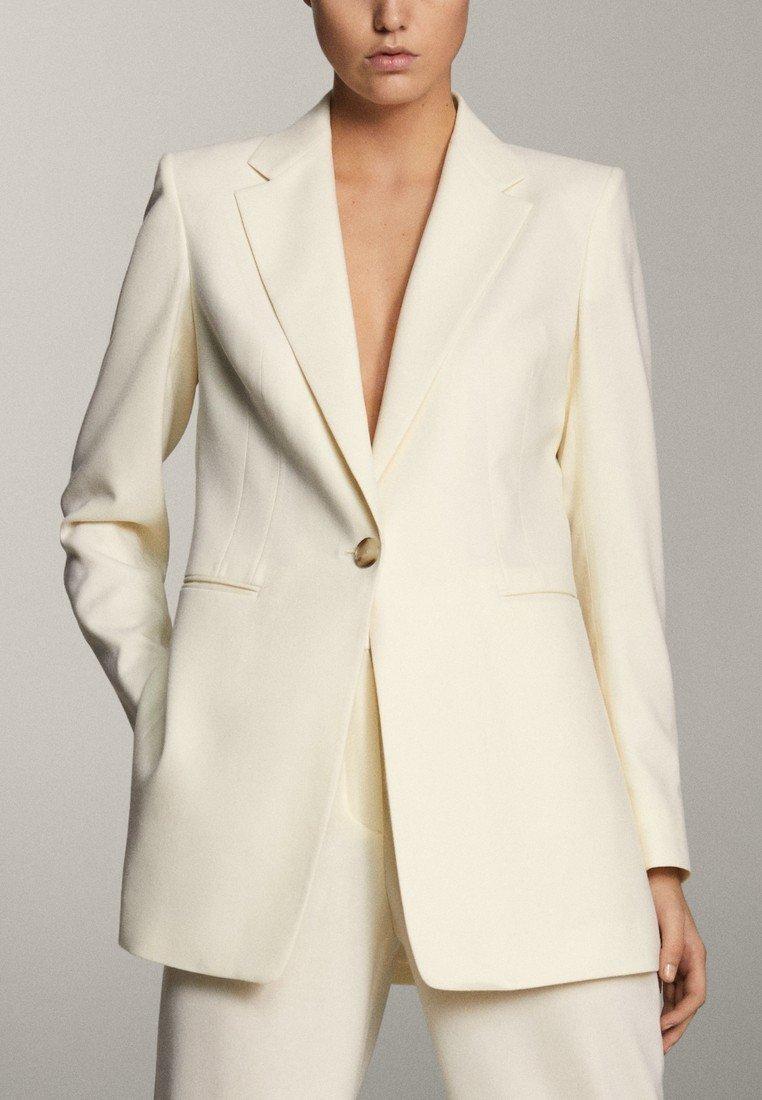 Massimo Dutti - MIT EIN-KNOPF-VERSCHLUSS - Short coat - beige