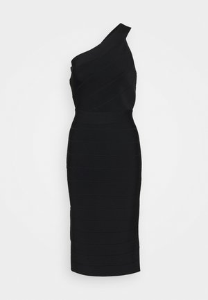 ONE SHOULDER ICONIC - Vestido de tubo - black