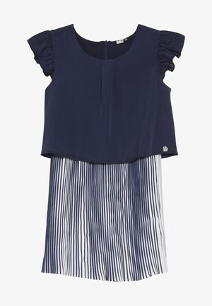 CUTRE DRESS PLEATED BOTTOM - Day dress - blue night